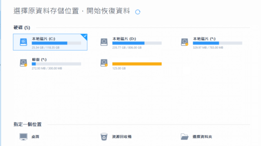 強大且易用的資料救援軟件:EaseUS Data Recovery Wizard Professional 2